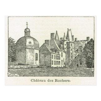 France Chateau des Rochers Postcard