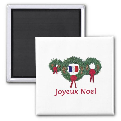 France Christmas 2 2 Inch Square Magnet