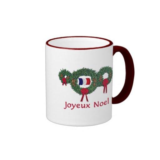 France Christmas 2 Ringer Coffee Mug