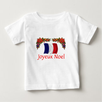 France Christmas Baby T-Shirt