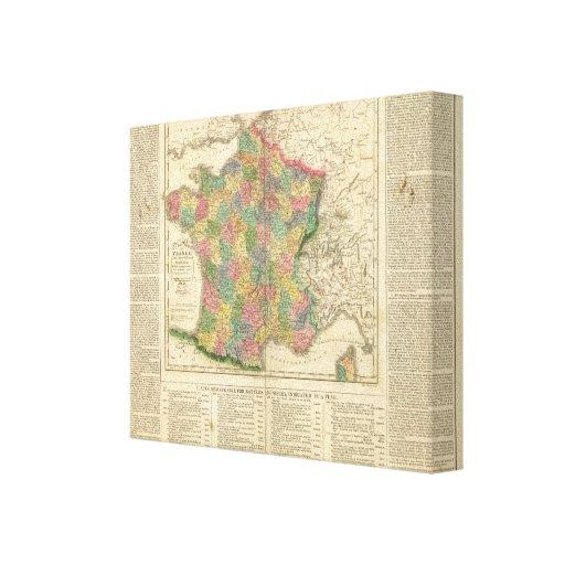 France Chronology Map Canvas Print