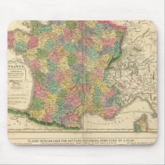 France Chronology Map Mouse Pad