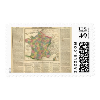 France Chronology Map Postage