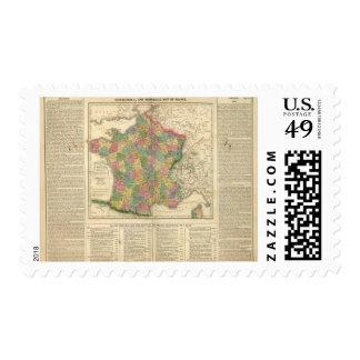 France Chronology Map Postage