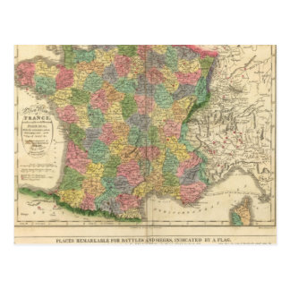 France Chronology Map Postcard