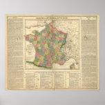 France Chronology Map Print