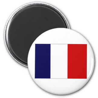 France Civil and Naval Ensign 2 Inch Round Magnet