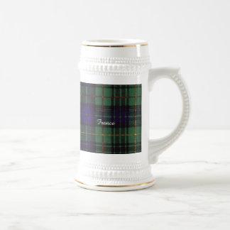 France clan Plaid Scottish kilt tartan Beer Stein