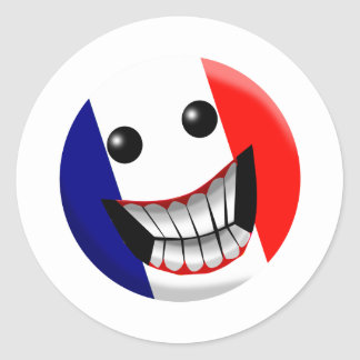 France Classic Round Sticker