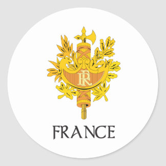France Coat of Arms Classic Round Sticker