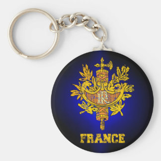 France Coat of Arms Keychain