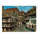 France, Colmar, Alsace, retro postcard