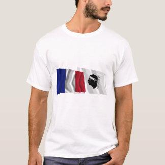 France & Corse waving flags T-Shirt