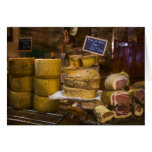 France, Corsica. Local cheeses and charcuterie Greeting Card
