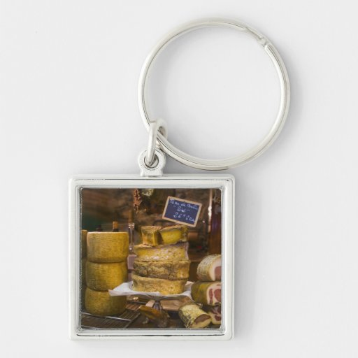 France, Corsica. Local cheeses and charcuterie Key Chain