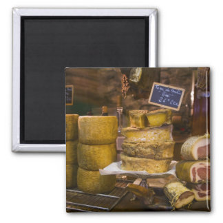 France, Corsica. Local cheeses and charcuterie 2 Inch Square Magnet