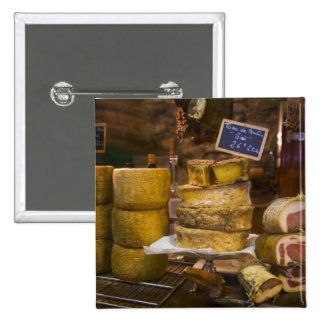 France, Corsica. Local cheeses and charcuterie Pinback Button