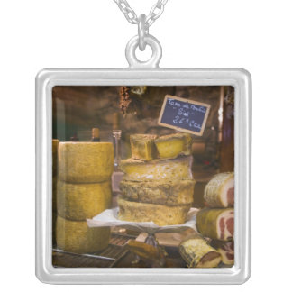France, Corsica. Local cheeses and charcuterie Silver Plated Necklace