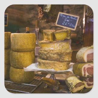 France, Corsica. Local cheeses and charcuterie Square Sticker