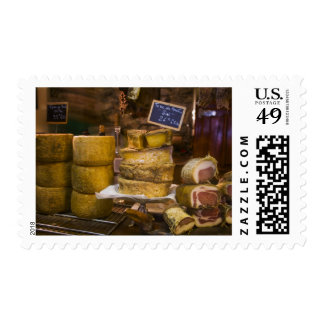France, Corsica. Local cheeses and charcuterie Stamp