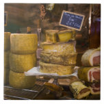 France, Corsica. Local cheeses and charcuterie Ceramic Tiles