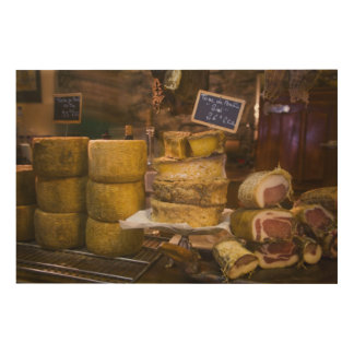 France, Corsica. Local cheeses and charcuterie Wood Wall Art