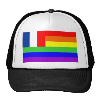 france country gay proud rainbow flag homosexual trucker hat