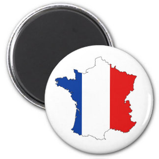 france country map flag label shape 2 inch round magnet