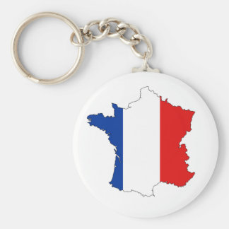 france country map flag label shape keychain
