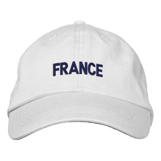 FRANCE Country Patriotic Design Embroidered Baseball Hat