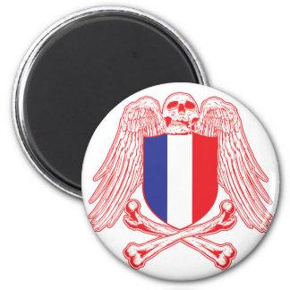 France Crossbones Refrigerator Magnets