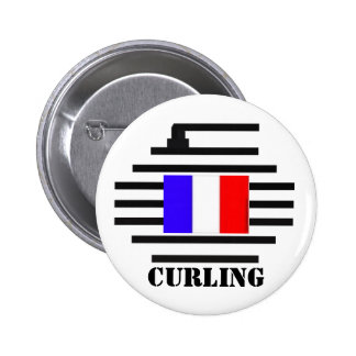 France Curling 2 Inch Round Button