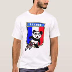 Men's Basic T-Shirt with French Cycling Panda design
