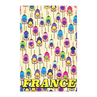 France cycling travel poster canvas print