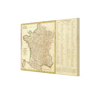 France Departments Canvas Print