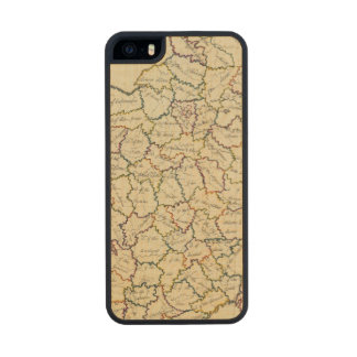 France departments carved® maple iPhone 5 slim case