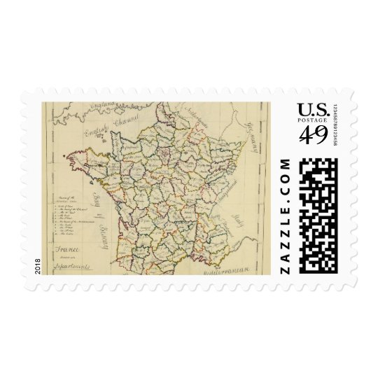France departments postage