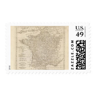 France Divided into Circles and Departments Postage