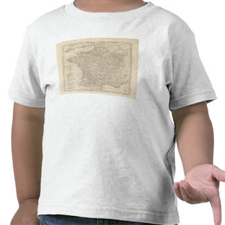 France Divided into Circles and Departments T-shirts