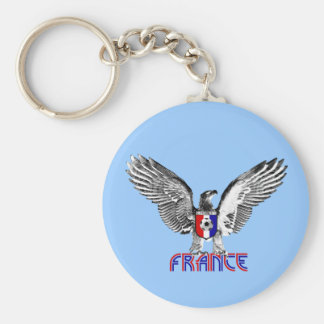 France Eagle soccer players and football fans gift Basic Round Button Keychain