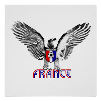 France Eagle soccer players and football fans gift Poster