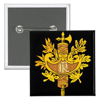 france emblem 2 inch square button