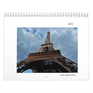 France, England, Ireland Calendar