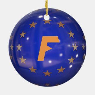France European  Union Christmas Ornament