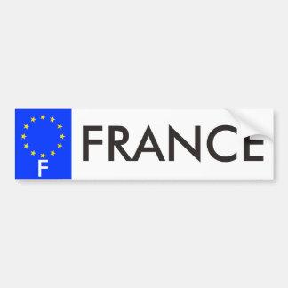 France European Union License Plate Bumper Sticker Car Bumper Sticker