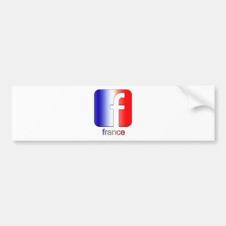France Facebook Logo Unique Gift Template Bumper Sticker