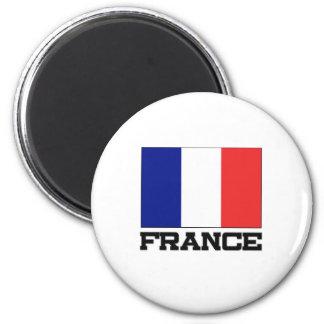 France Flag 2 Inch Round Magnet