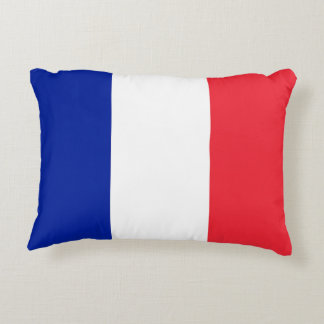 France Flag Accent Pillow