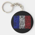 France - Flag Basic Round Button Keychain