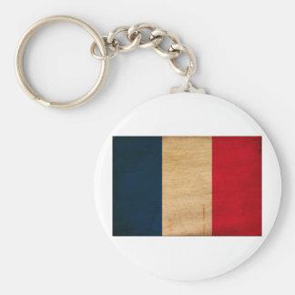 France Flag Basic Round Button Keychain
